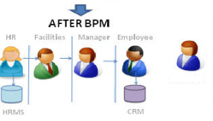A new organization after applying the BPM methodology, tibco