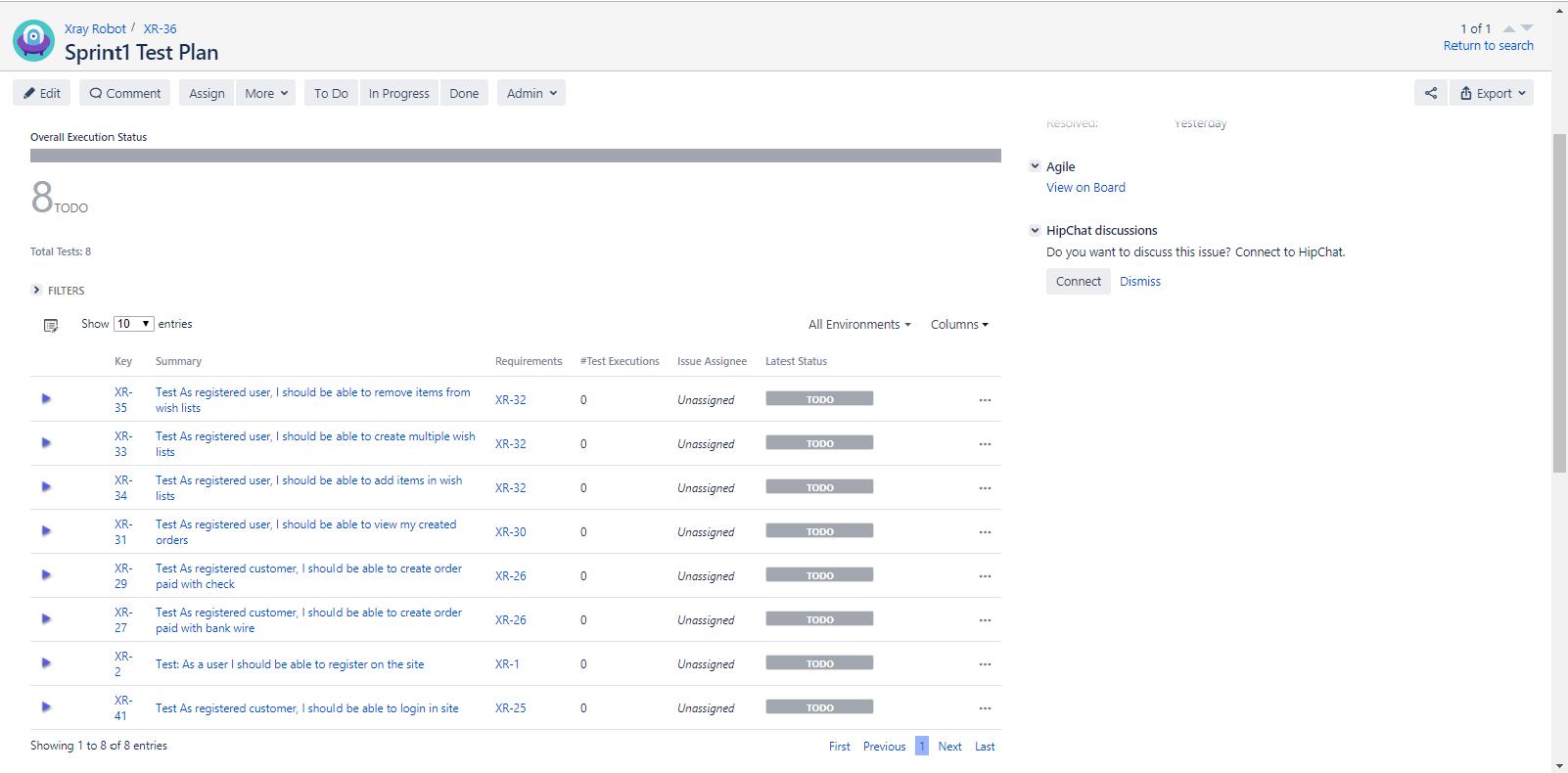 Sample Xray Test Plan