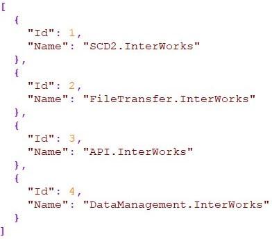 Figure 1: Sample project list