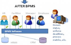 Applying a business process management software